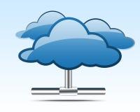Ilustração de computação da nuvem Fotografia de Stock Royalty Free