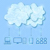 Ilustração de computação do conceito da nuvem Fotografia de Stock