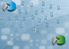 Ilustração de conexões móveis de Smartphones Ilustração Stock