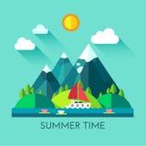 Ilustração de cor das horas de verão Fotos de Stock