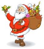 Ilustração de cor de Papai Noel Fotografia de Stock Royalty Free