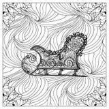 Ilustração de cor do vetor preto mono Fotografia de Stock Royalty Free
