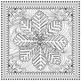 Ilustração de cor do vetor preto mono para o Feliz Natal Fotografia de Stock Royalty Free
