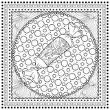Ilustração de cor do vetor preto mono para o Feliz Natal Imagens de Stock