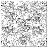 Ilustração de cor do vetor preto mono Projeto adulto da página do livro para colorir Fotografia de Stock Royalty Free
