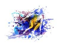 Ilustração de cor do vetor de um esquiador Imagens de Stock