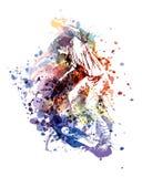 Ilustração de cor do vetor de um skaterboarder Foto de Stock