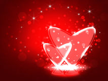 Ilustração de corações do vidro de Love.Two. Imagem de Stock