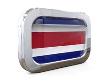 Ilustração de Costa Rica Button Flag 3D ilustração royalty free