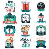 Ilustração de Day Sale Sign Clipart do pai Imagens de Stock