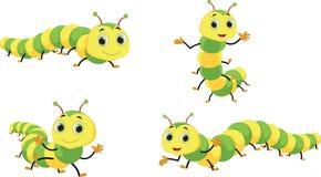 Ilustração de desenhos animados bonitos da lagarta Fotos de Stock