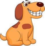 Desenhos animados de sorriso do cão ilustração stock
