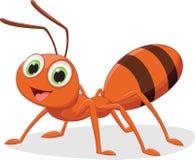 Ilustração de desenhos animados felizes da formiga Fotos de Stock Royalty Free