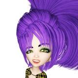 Ilustração de Digitas de Manga Girl ilustração royalty free