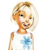 Ilustração de Digitas de Toon Girl ilustração do vetor