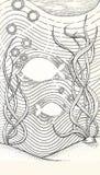 ilustração de dois peixes subaquáticos ilustração do vetor