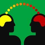 Ilustração de duas cabeças humanas Imagens de Stock Royalty Free