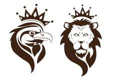 Eagle e leão Fotografia de Stock Royalty Free