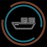 Ilustração de envio do barco do vetor - ícone do curso ilustração stock