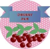 Ilustração de etiquetas do doce de cereja ilustração do vetor