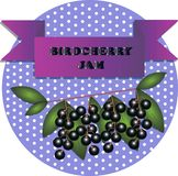 Ilustração de etiquetas do doce de cereja do pássaro ilustração do vetor