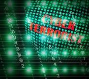 Ilustração de Extremism Hacking Alert 3d do terrorista do Cyber ilustração stock