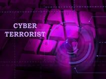 Ilustração de Extremism Hacking Alert 3d do terrorista do Cyber ilustração royalty free