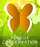 Ilustração de Forest Conservation Butterfly Shows Preservation 3d ilustração stock