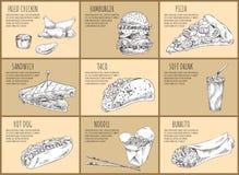 Ilustração de Fried Chicken Drumsticks Set Vetora ilustração stock