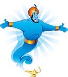 Génios mágicos que concedem o desejo Imagem de Stock Royalty Free