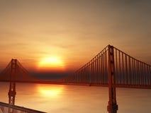 Ilustração de golden gate bridge Foto de Stock