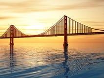Ilustração de golden gate bridge Foto de Stock Royalty Free