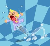 Ilustração de grito do bebê Foto de Stock