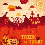 Ilustração de Halloween Fotos de Stock
