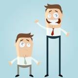 Homens dos desenhos animados Fotografia de Stock