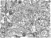 A ilustração de imagens do Maya ilustração do vetor