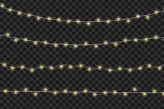 Ilustração de incandescência do vetor das luzes Fotos de Stock