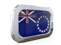 Ilustração de Islands Button Flag 3D do cozinheiro ilustração stock