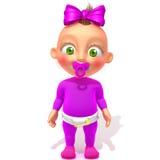 Ilustração de Jessica 3d do bebê Imagens de Stock