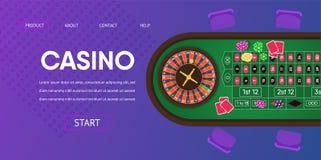 Ilustração de jogo da tabela verde da roleta do casino ilustração royalty free