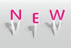 Ilustração de letras NOVAS Foto de Stock