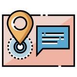Ilustração de LineColor do endereço ilustração stock