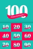 Ilustração de Logo Anniversary Collection Set Vetora do molde Fotografia de Stock