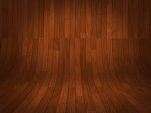 Ilustração de madeira curvada do fundo do carvalho vermelho Imagens de Stock