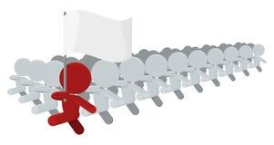 Ilustração de marcha contingente do portador de bandeira dos homens ilustração do vetor
