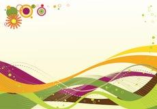 Ilustração de ondas coloridas Imagens de Stock