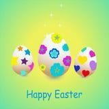 Ilustração de ovos decorativos no verde Imagens de Stock Royalty Free