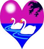 Ilustração de pássaros do amor Fotos de Stock Royalty Free