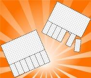 Ilustração de papéis de nota Imagens de Stock Royalty Free