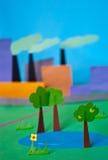 Ilustração de papel da poluição Fotos de Stock Royalty Free